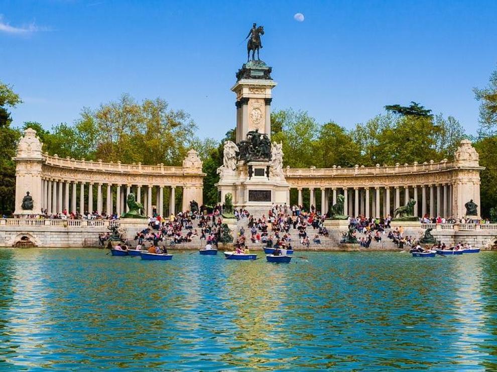 Imagen de archivo del parque del Retiro de Madrid.