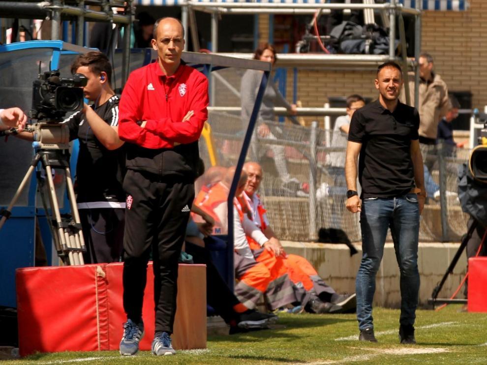 Javier Garcés, del Real Zaragoza, y David Giménez, del Binéfar continuarán al frente de sus equipos.