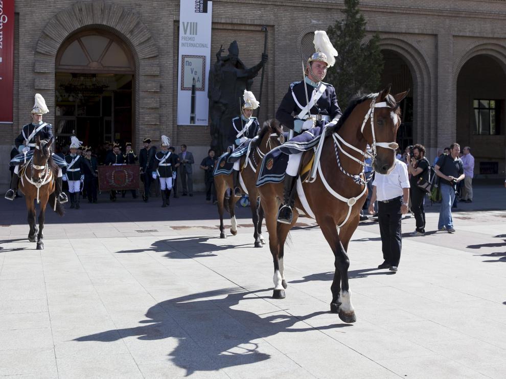 La Unidad de Caballería de la Policía Local, en la procesión del Corpus de 2012