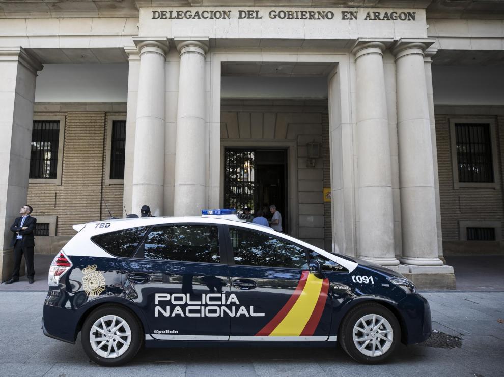 PRESENTACION DE UN NUEVO VEHICULO DE LA POLICIA NACIONAL / DELGACION DEL GOBIERNO ( ZARAGOZA ) / 19/06/2019 / FOTO : OLIVER DUCH [[[FOTOGRAFOS]]]