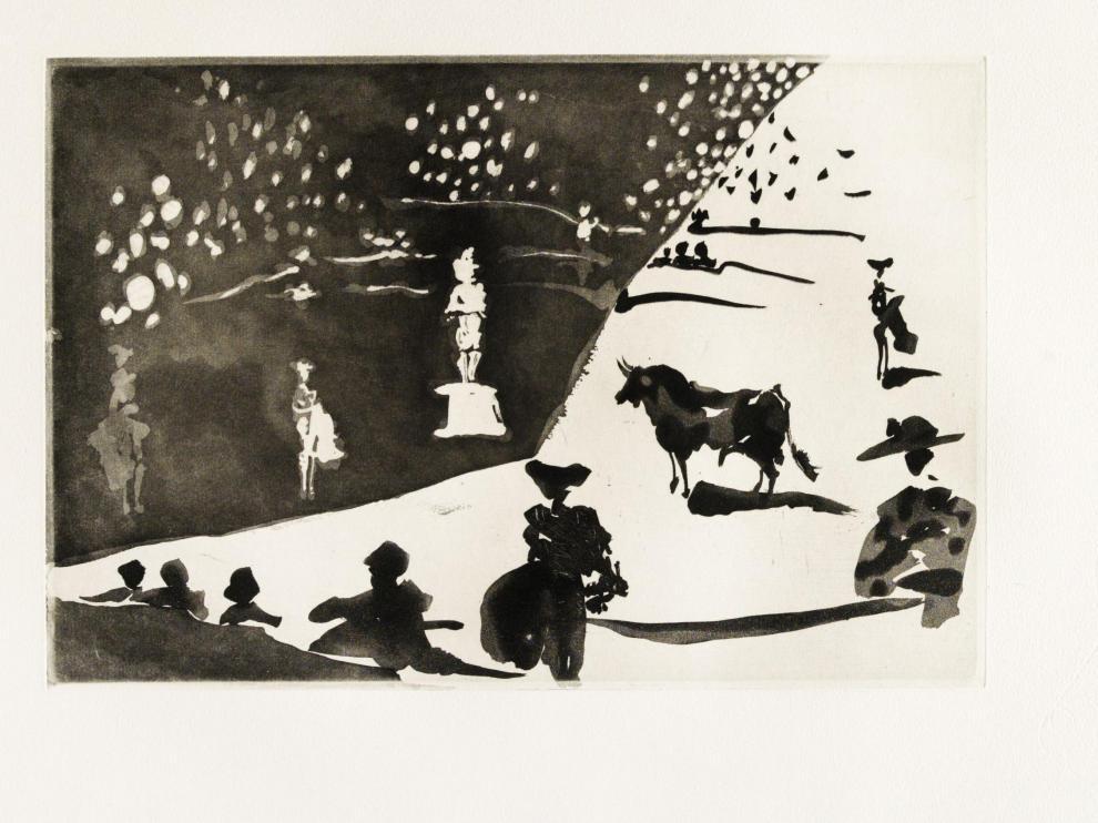 El grabado 'Don Tancredo', de Pablo Picasso, estampado en 1959.