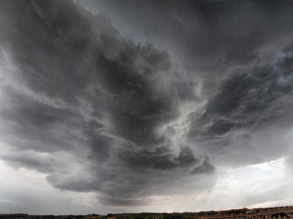 La tormenta dejó imágenes tan impresionantes como esta.