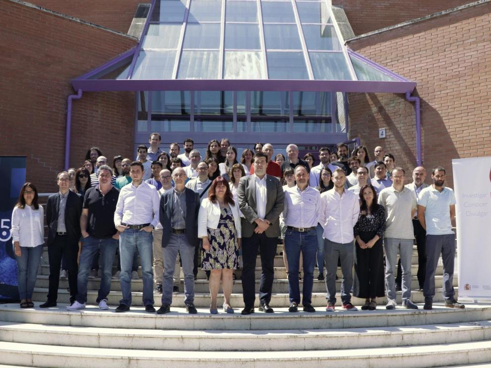 Los asistentes a la jornada de la Fundación Hidrógeno Aragón en Zaragoza.