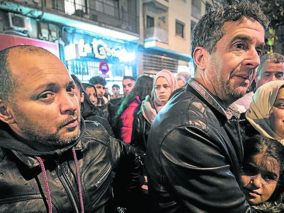CONCENTRACION EN LA CALLE PRINCESA POR EL ASESINATO DE SAMI ( JOVEN MUERTO EN UNA REYERTA ) / 20/11/2018 / FOTO : OLIVER DUCH [[[FOTOGRAFOS]]]