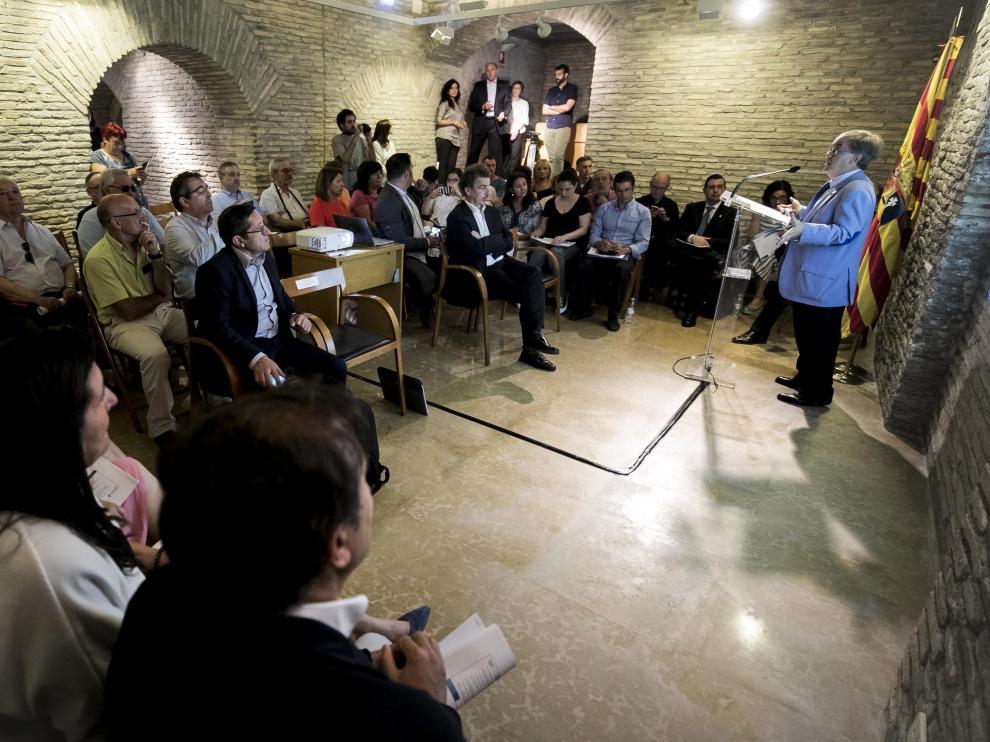 MESA DEL JUSTICIA SOBRE MAYORES EN SOLEDAD NO ELEGIDA / SEDE DEL JUSTICIA DE ARAGON ( ZARAGOZA ) / 25/06/2019 / FOTO : OLIVER DUCH [[[FOTOGRAFOS]]]