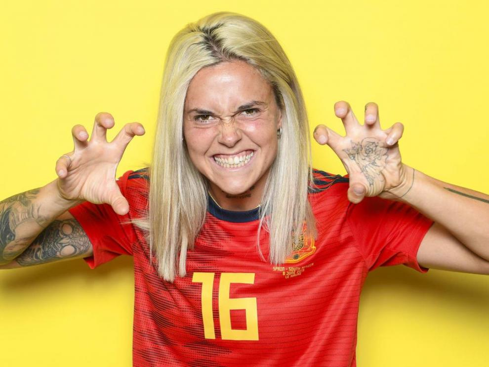 Mapi León, jugadora de la selección española de fútbol femenino.