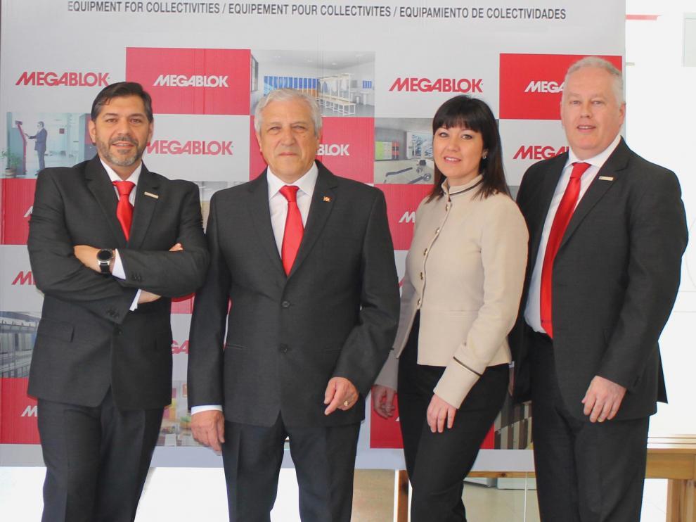 El equipo directivo de Megablok: de izquierda a derecha, Enrique Villaverde, José Antonio Villaverde, Sonia Villaverde y Juan Valle.