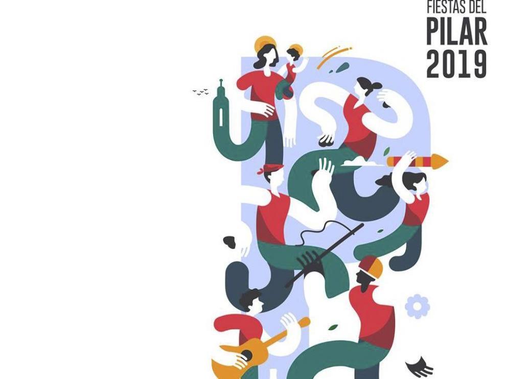 El cartel ganador de las Fiestas del Pilar de Samuel Akinfenwa