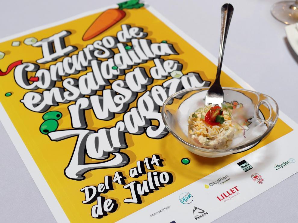 Cartel del II Concurso de Ensaladilla Rusa de Zaragoza.