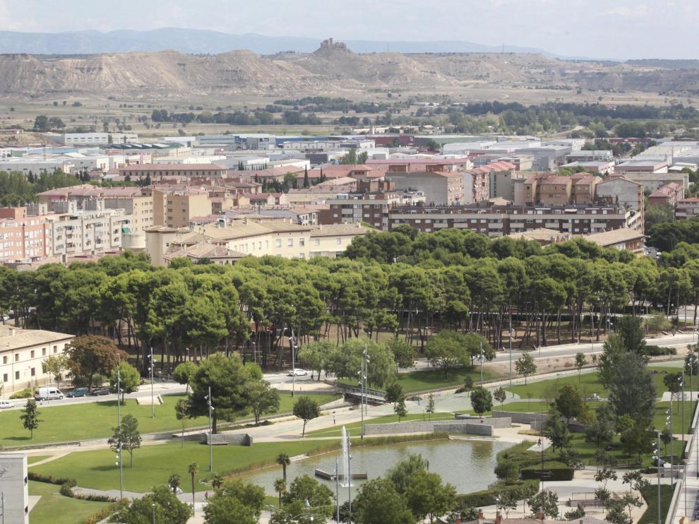 El suceso ocurrió en el parque de la Universidad de Huesca