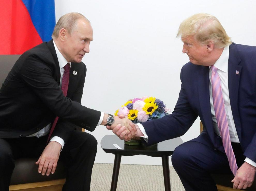 Vladimir Putin y Donald Trump, durante su reunión al margen de la cumbre del G20.