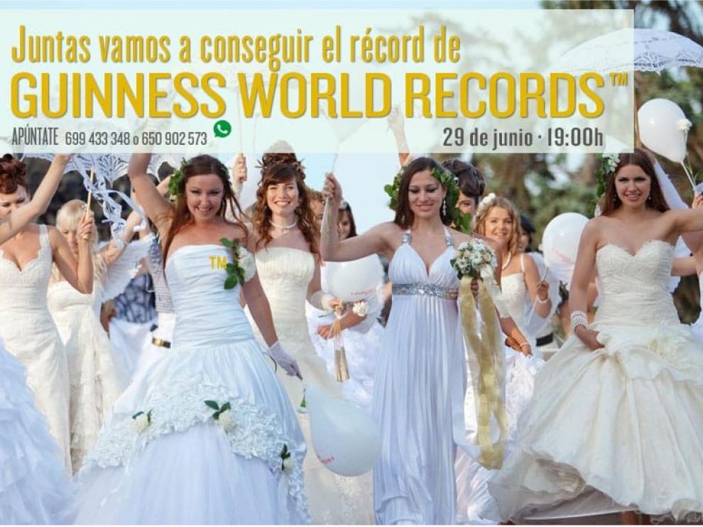 La tienda de moda Sedka Novias en Alicante ha logrado reunir a 1.347 mujeres vestidas de novia.