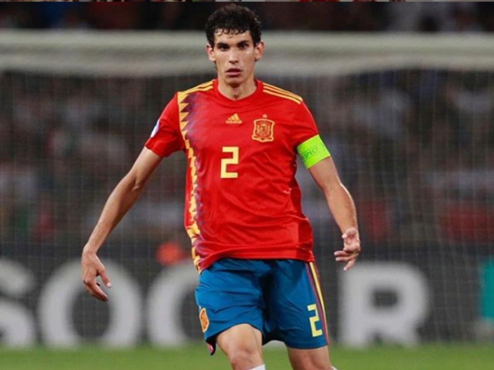 Jesús Vallejo, capitán de la selección española en el Europeo Sub-21.