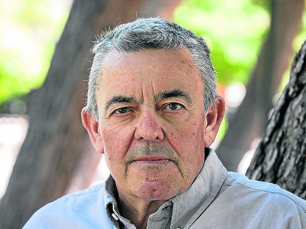 Geardo Bielsa, en Zaragoza, tras presentar su libro en junio.