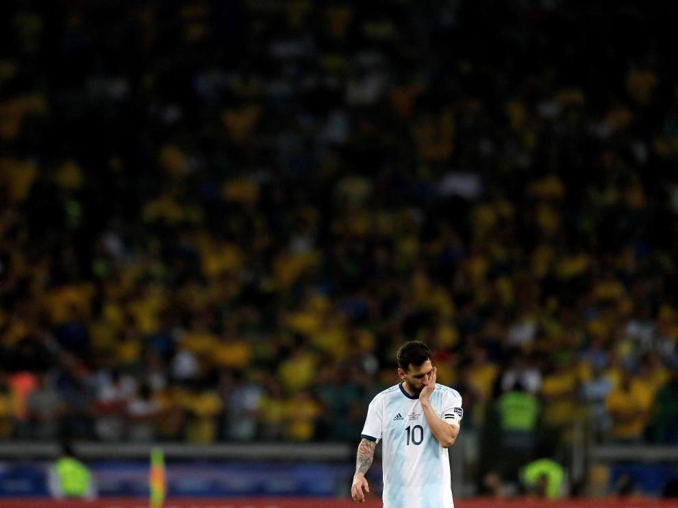 Messi tras el partido