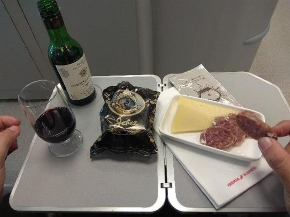 Tapas españolas en los vuelos de Iberia