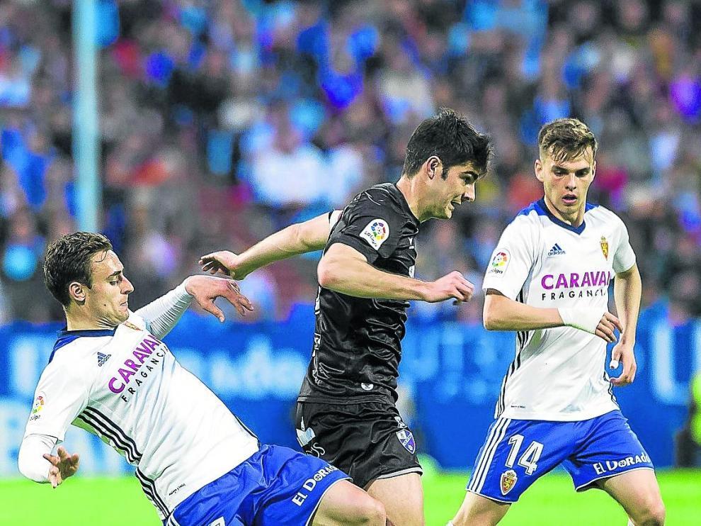 El último Real Zaragoza-Huesca, disputado hace dos años en La Romareda.