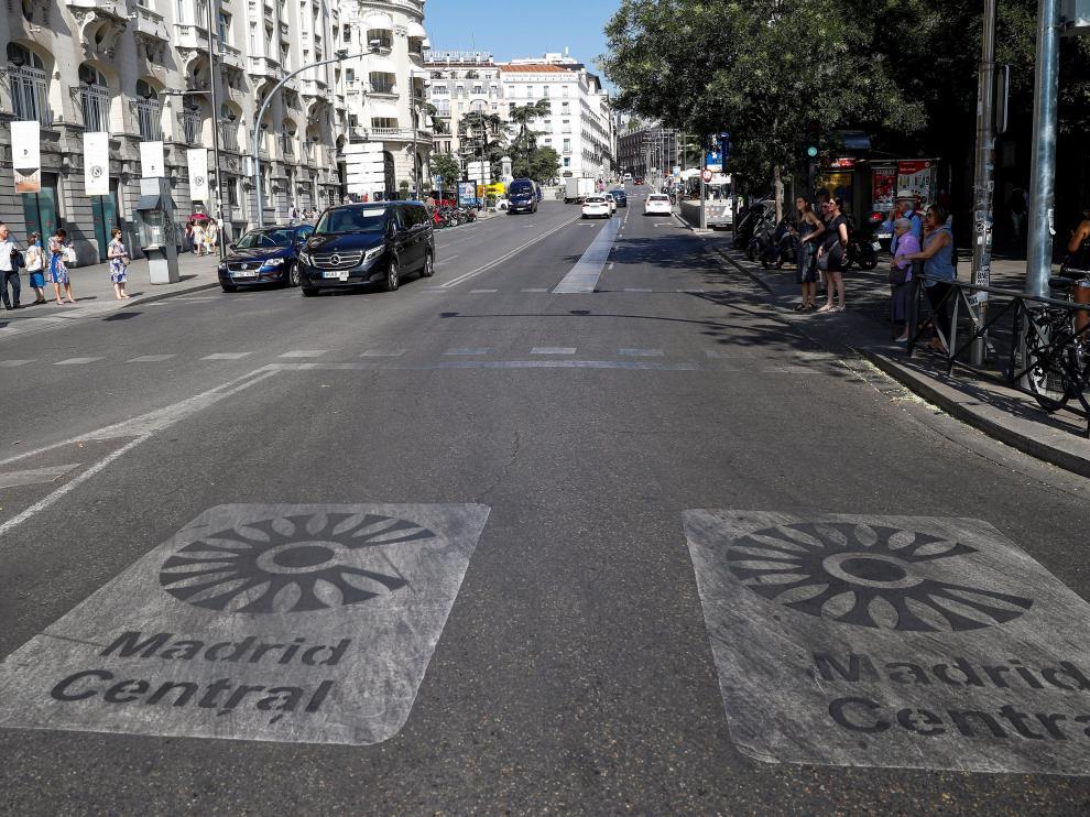Entrada a Madrid Central por la carrera de San Jerónimo.