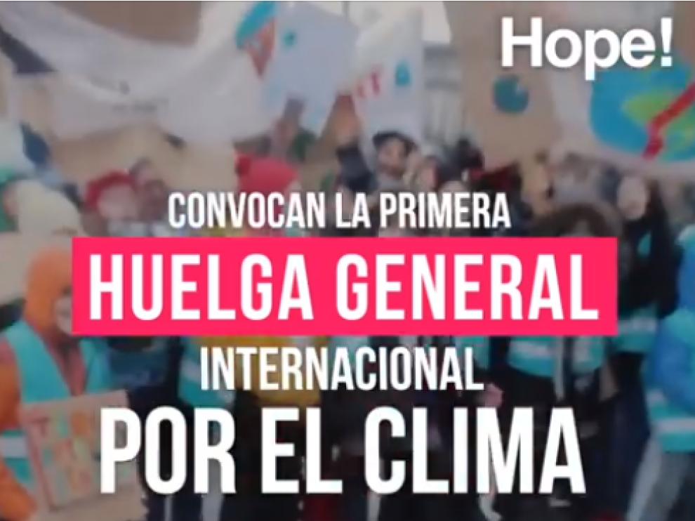 Imagen del vídeo de 'Hope. En pie por el planeta'.