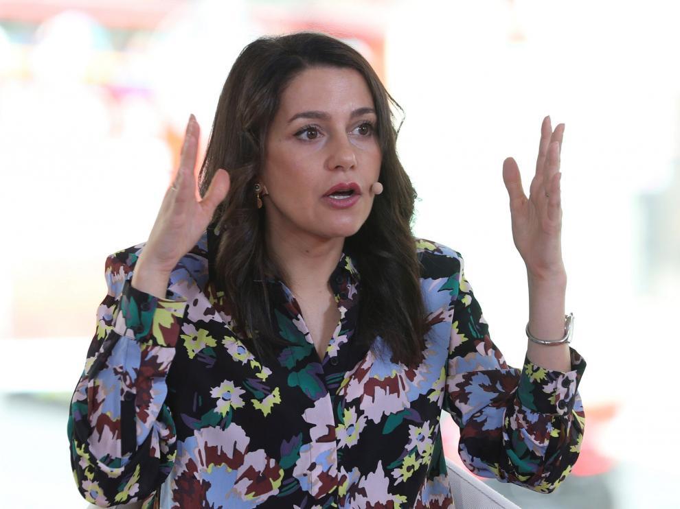 Inés Arrimadas, este domingo en una charla sobre la gestación subrrogada