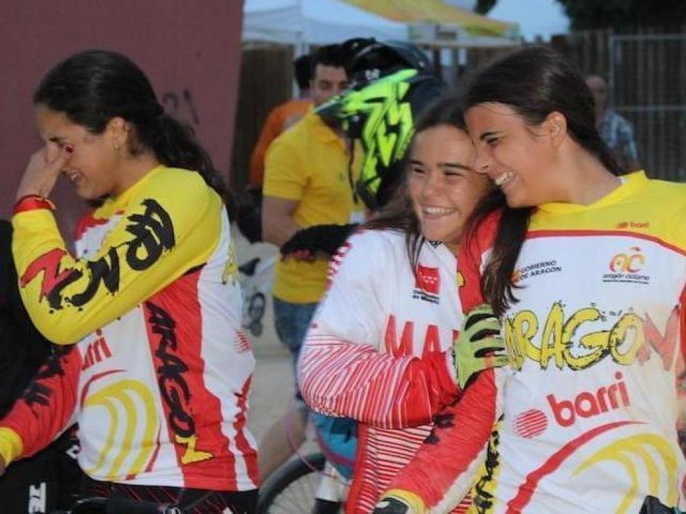 Podio aragonés en el Nacional de BMX