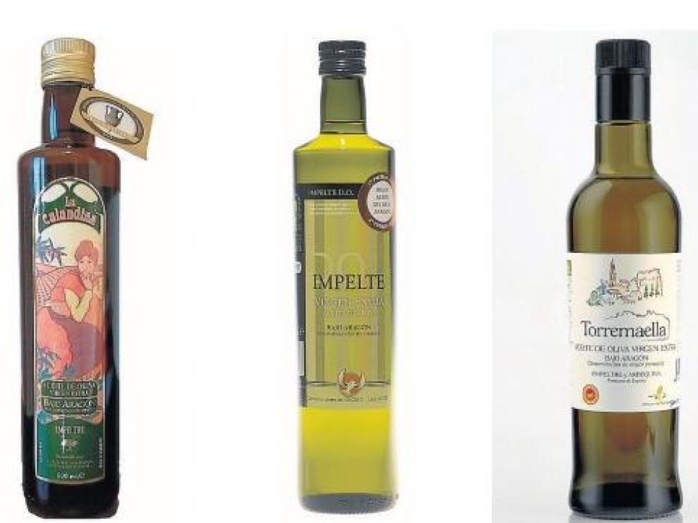 Botellas de La Calandina, Impelte D. O. y Torremaella.