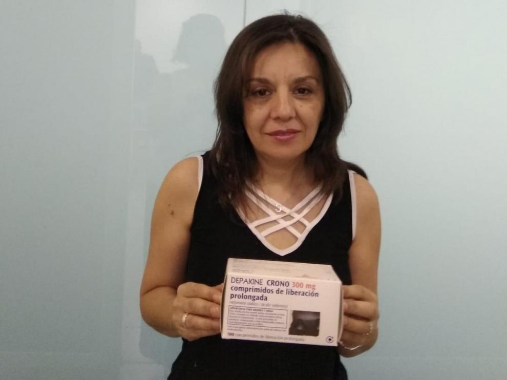 Carmen Ros, presidenta de la Asociación de Víctimas por Ácido Valproico (Avisav), de reciente creación, y madre de dos niños afectados.
