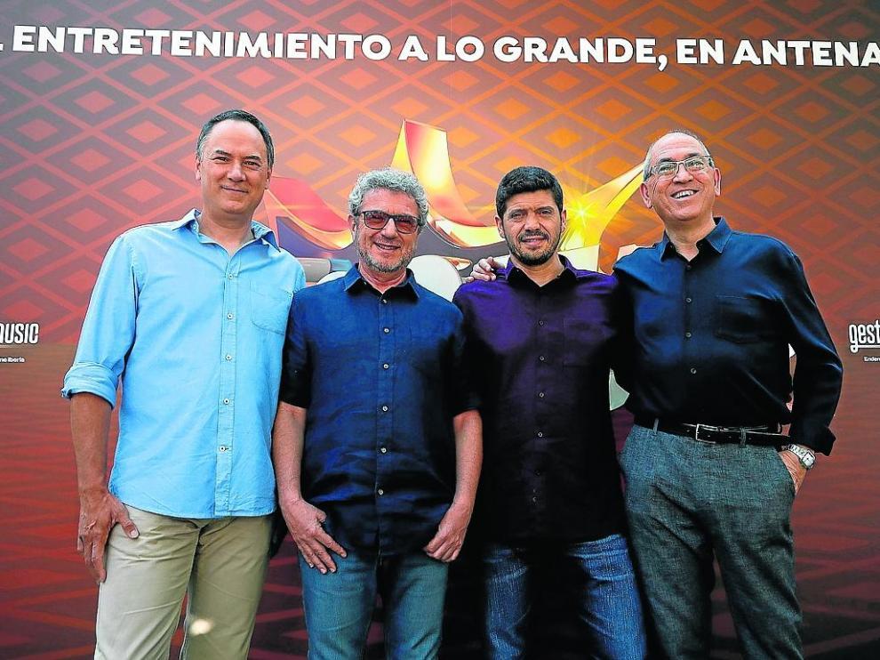 Los cuatro integrantes del colectivo que triunfó en RTVE, '¡Boom!' y batió todo un récord.