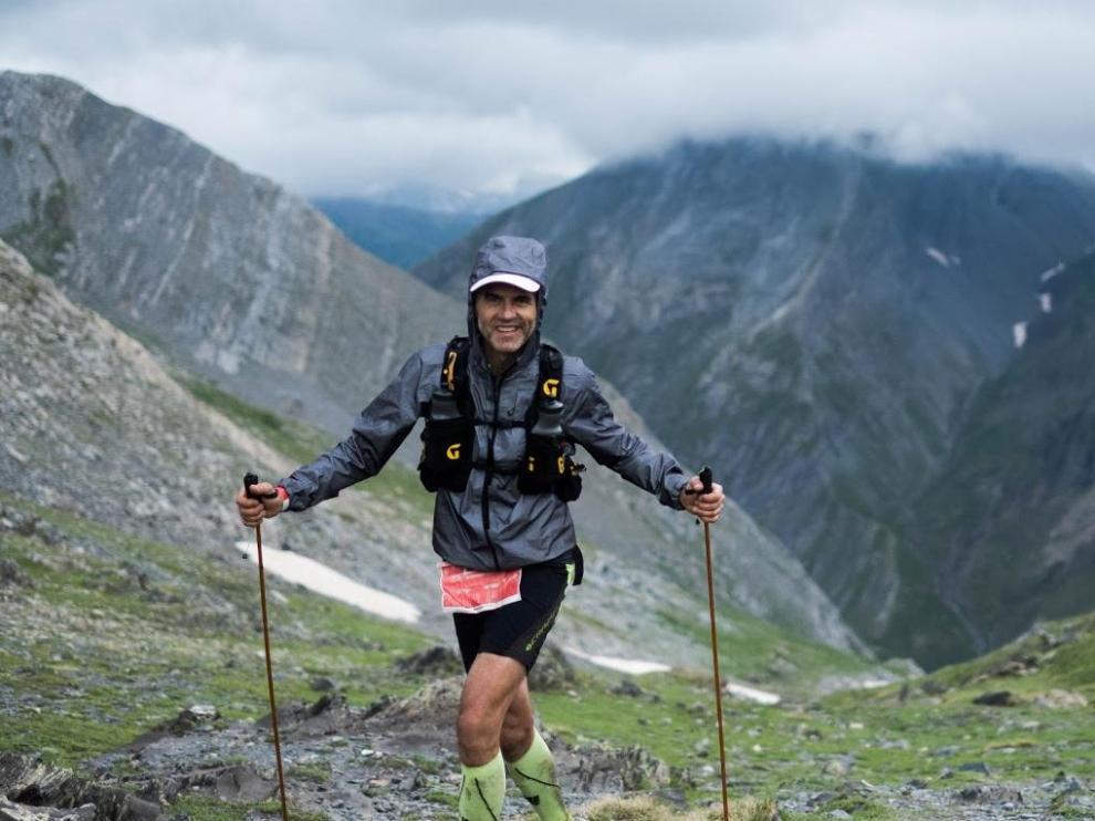 Un participante en la pasada edición del Gran Trail Aneto-Posets