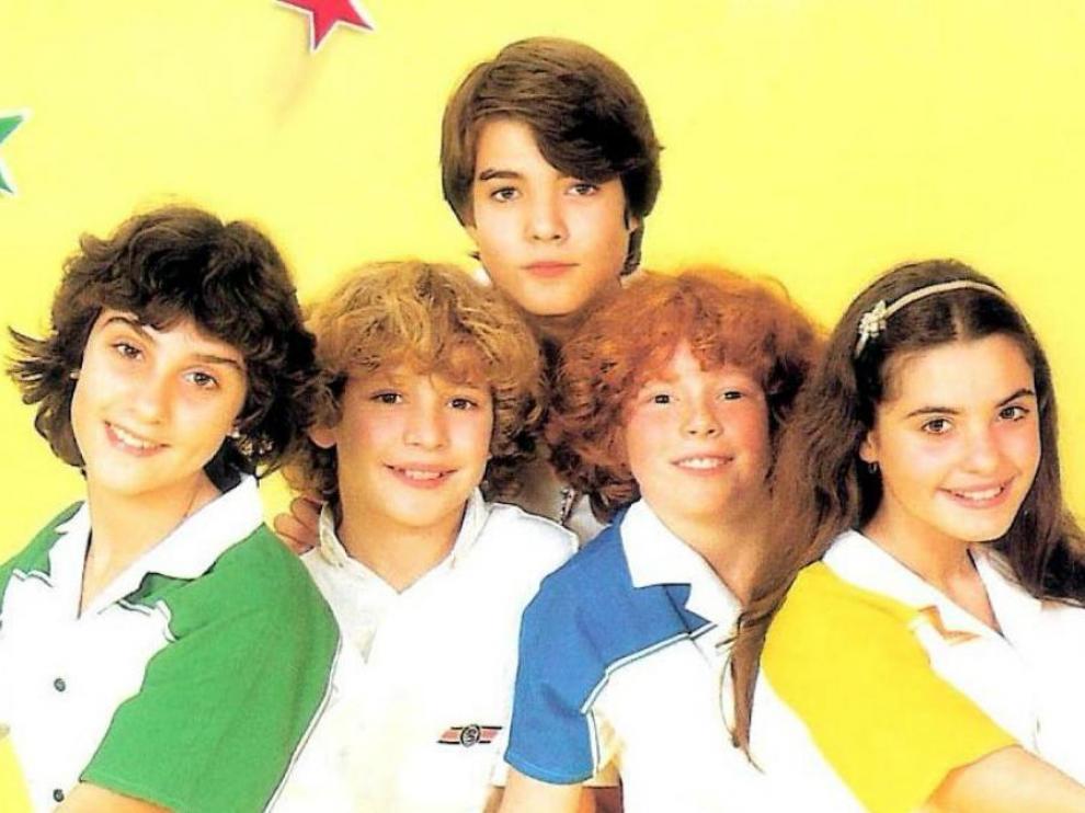 Gemma, David, Tino, Ricky y Yolanda, componentes de Parchís