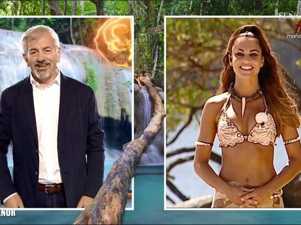 Carlos Sobera y Lara Álvarez, en su último 'Tierra de nadie'.
