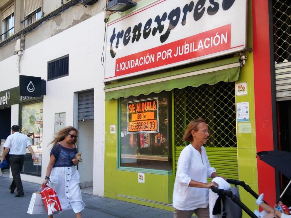Una imagen de la juguetería Trenexpreso, en la calle de Fernando el Católico de Zaragoza.