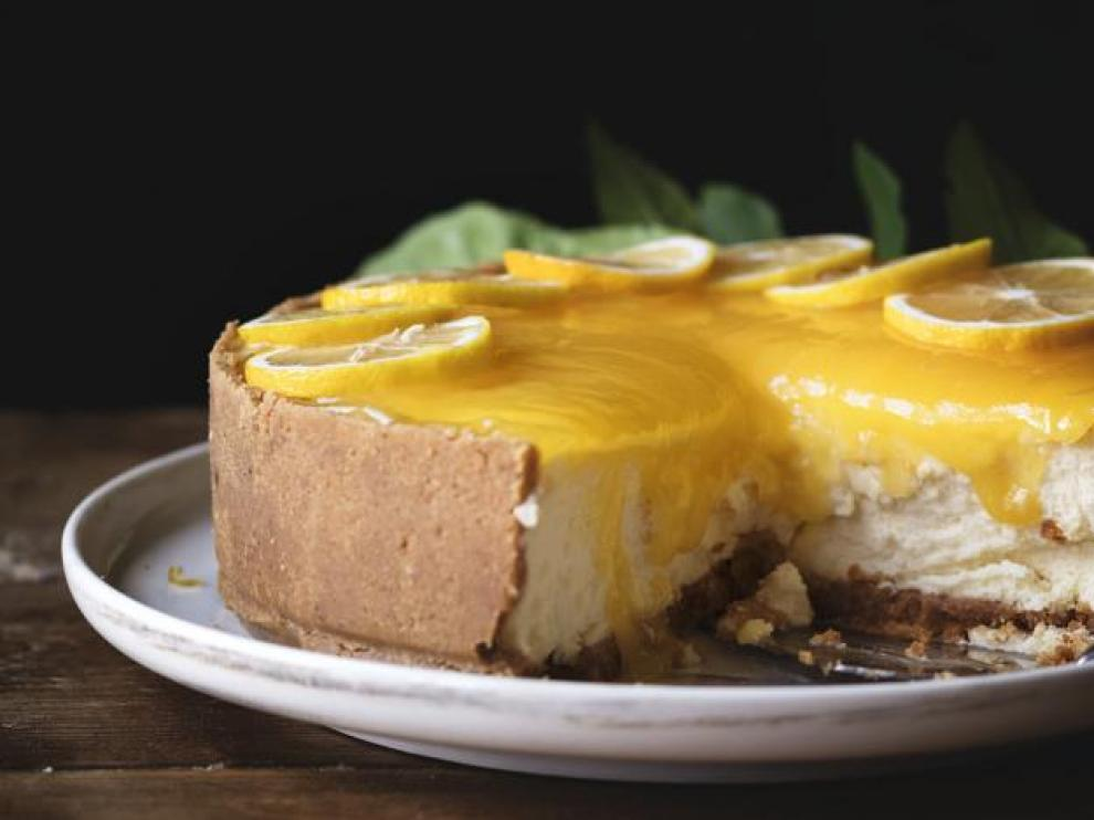 Lemon chessescake food photography recipe idea