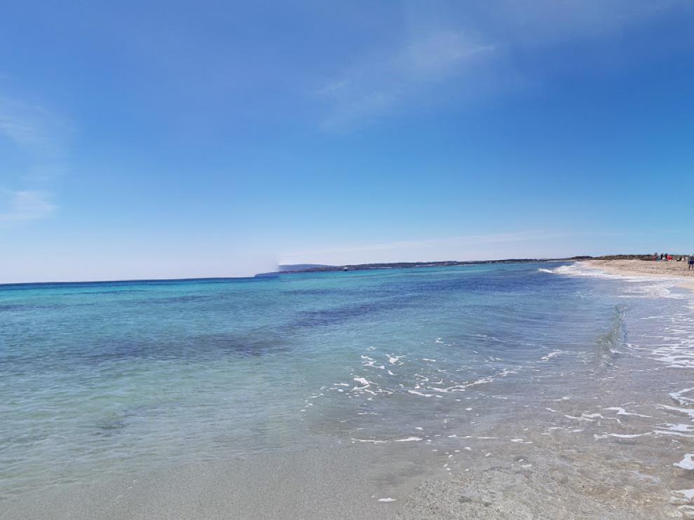 Playa de ses Illetes, en Formentera, lugar donde han ocurrido los hechos.
