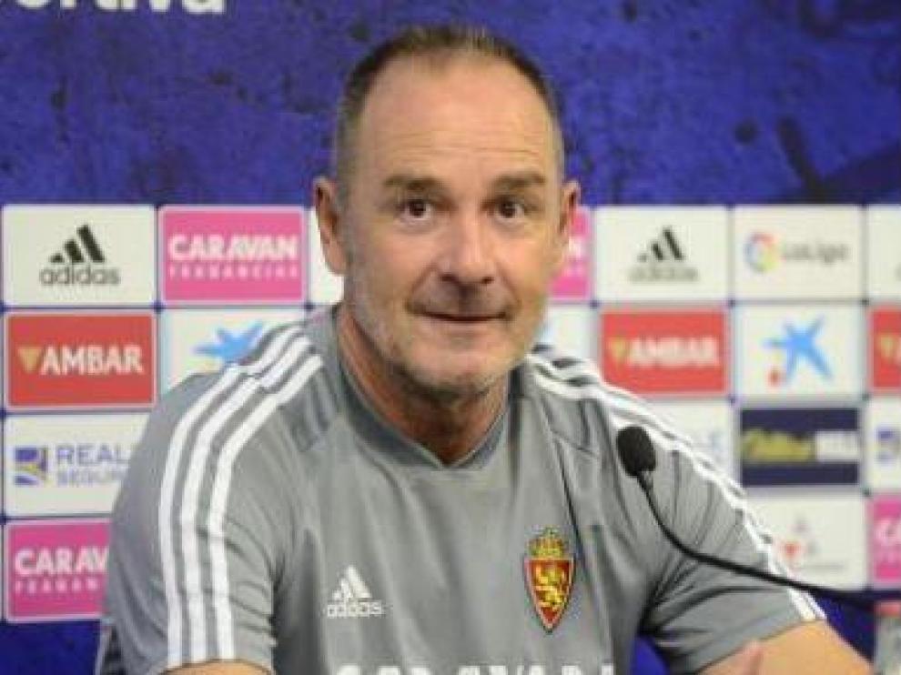 Víctor Fernández, en la mañana de este viernes en la Ciudad Deportiva en la rueda de prensa con la que arranca la pretemporada.