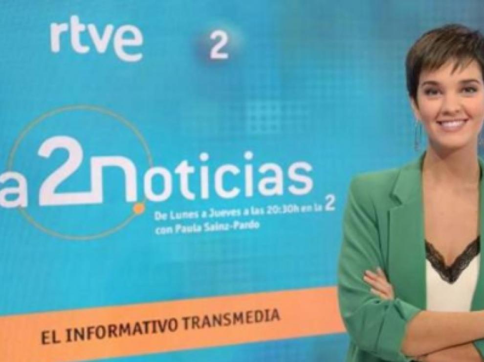 Paula Sainz-Pardo, presentadora de los informativos de La 2.