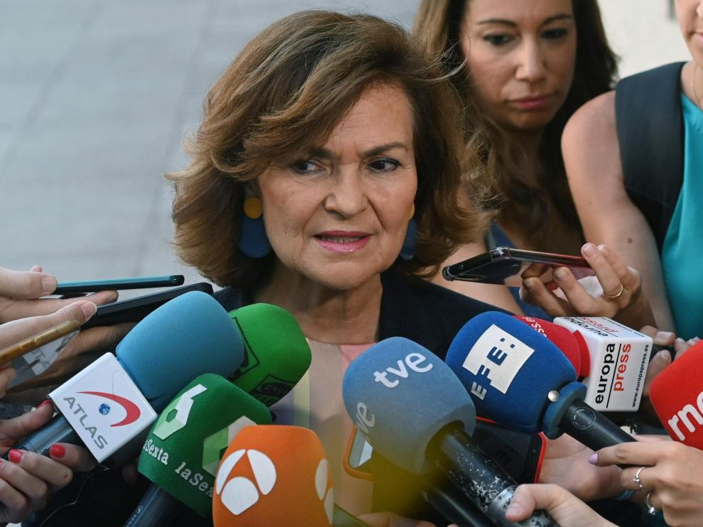 La vicepresidente del Gobierno en funciones, Carmen Calvo.