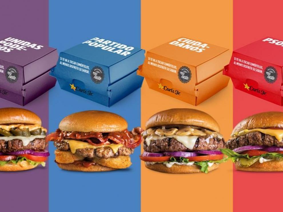 Una cadena de hamburguesas trolea a los partidos políticos a costa de la investidura.