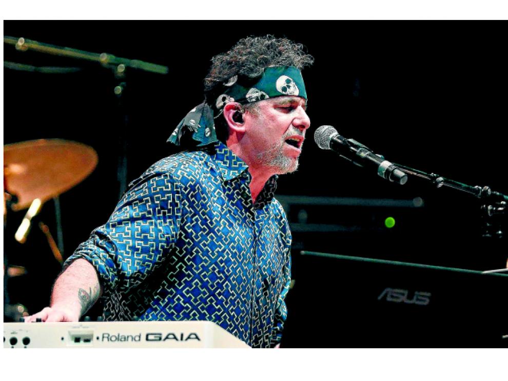 El músico Andrés Calamaro, durante un concierto el pasado junio en los Veranos de la Villa de Madrid.