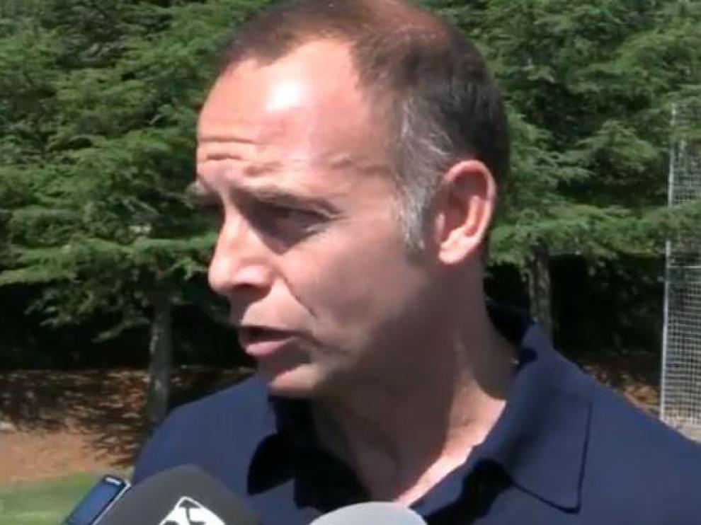 Christian Lapetra, presidente del Real Zaragoza, este viernes en Boltaña.