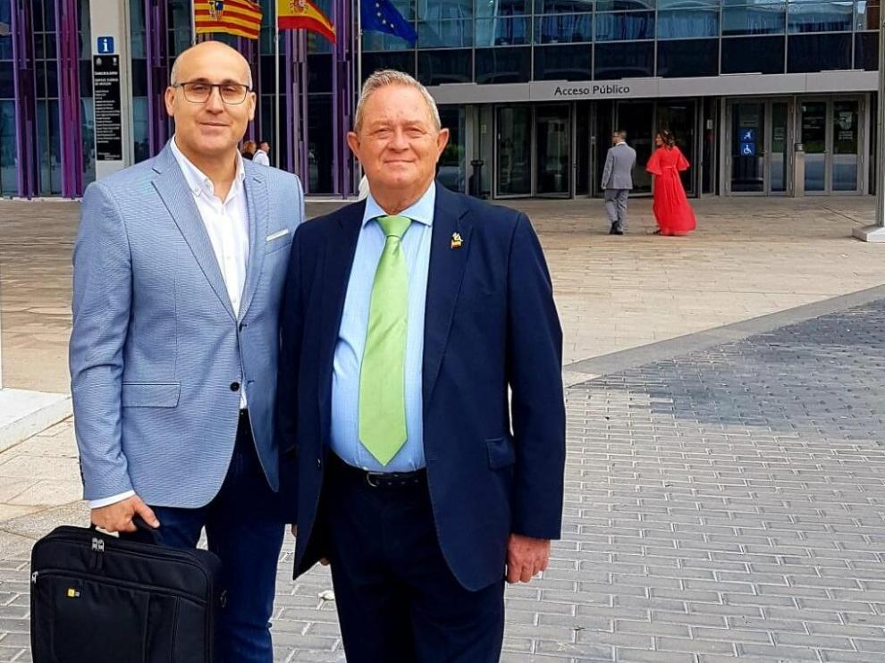 Carlos Rodrigo, el mes pasado junto a Lucio de la Cruz, en una foto publicada por Vox