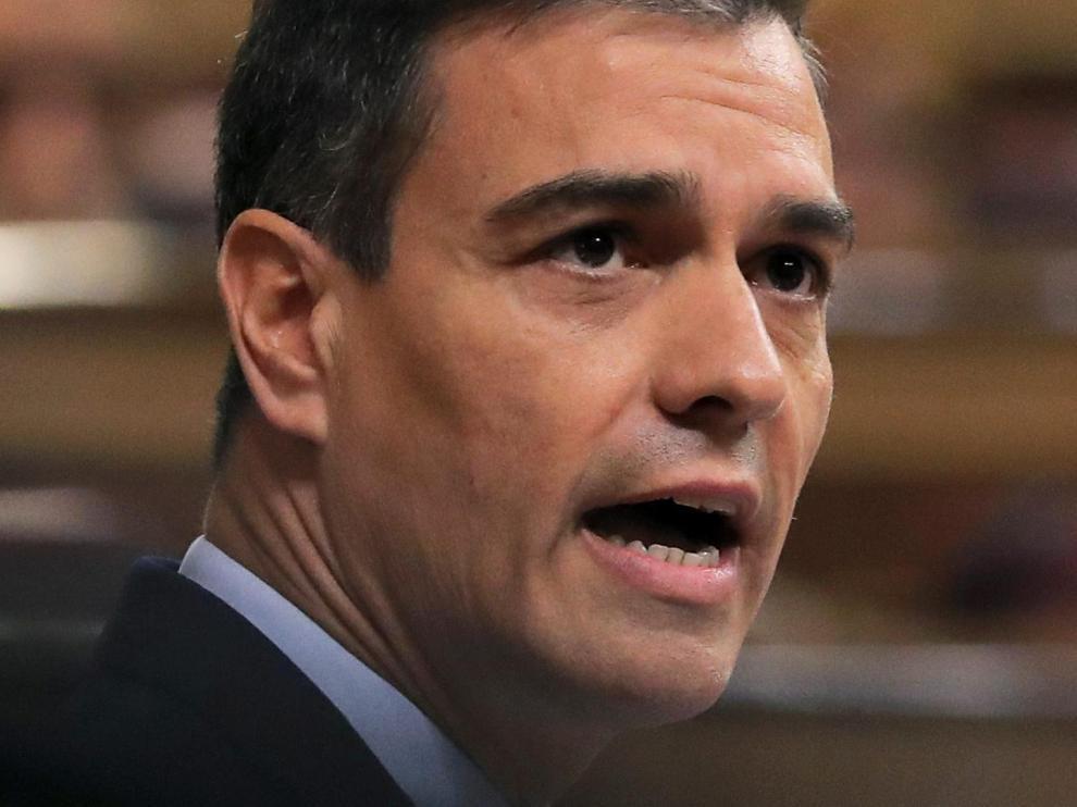 Pedro Sánchez, durante el debate de investidura.