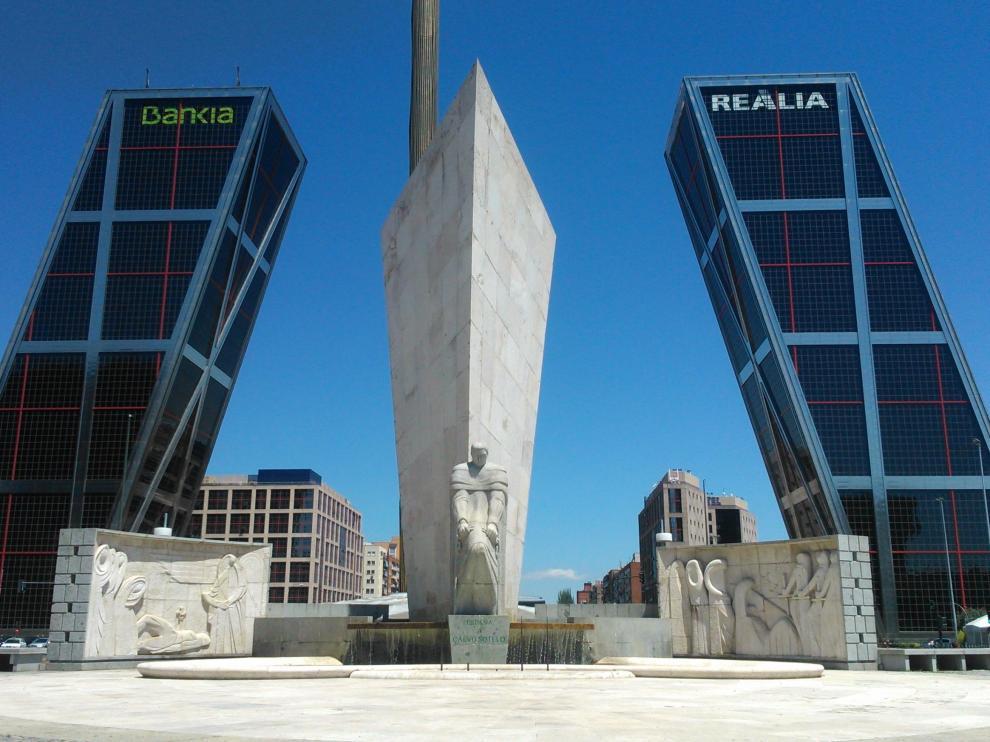 Torres Kio, sede de la extinta Caja Madrid