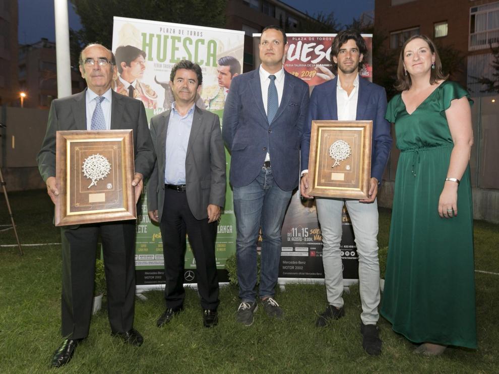 De izda. a dcha., Adolfo Martín, Luis Felipe, Alberto García, Alberto López Simón y María Rodrigo.