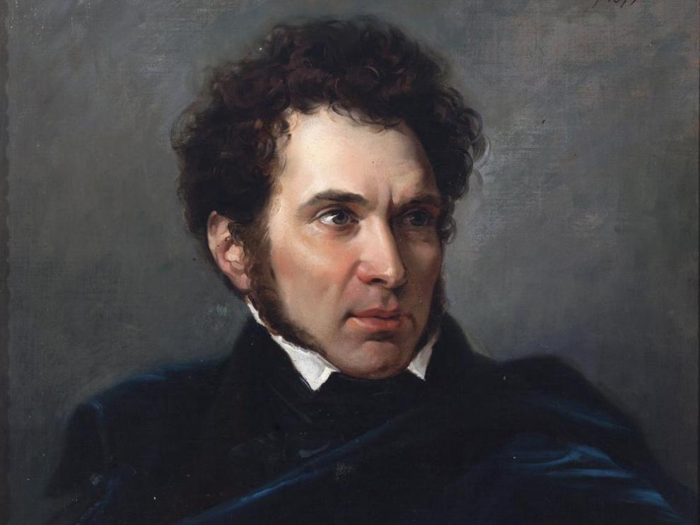Carderera, según un retrato de Federico de Madrazo.