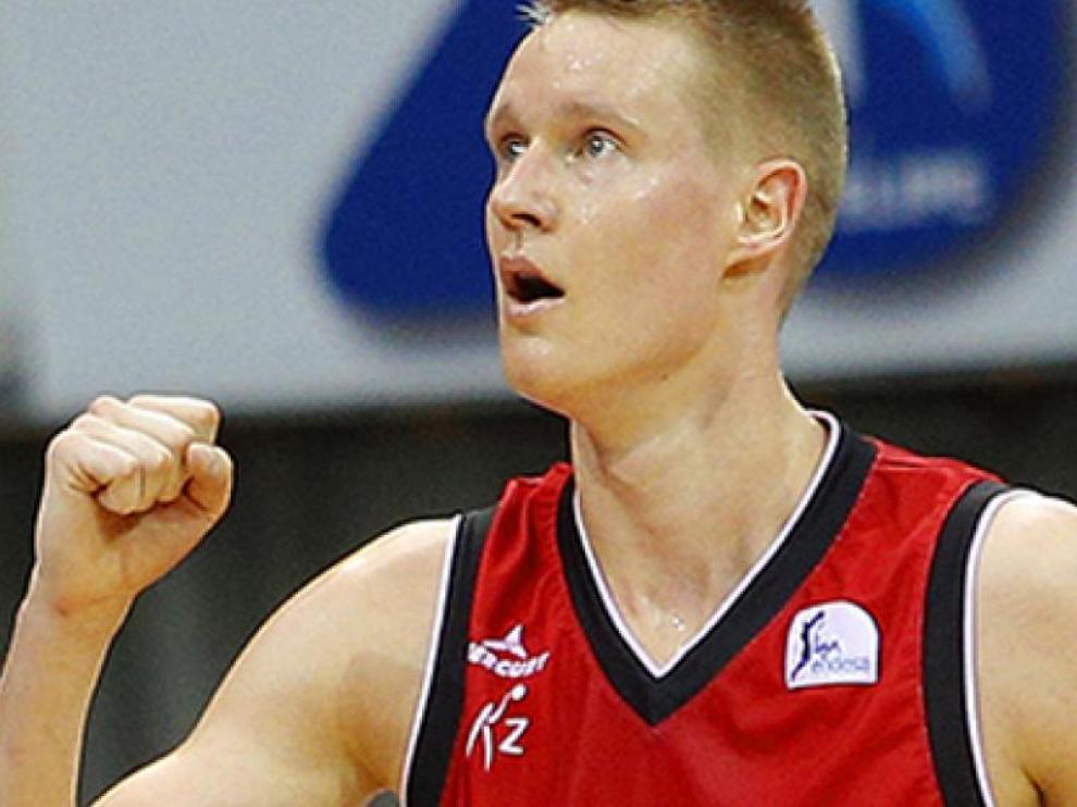 Robin Benzing en su última etapa en el Basket Zaragoza.