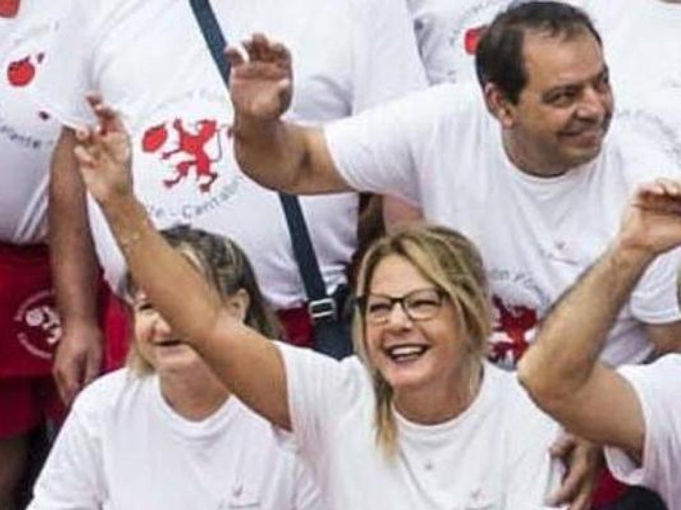 El matrimonio fallecido en Escalante, en una imagen tomada en la Feria de la Sidra el pasado sábado, dos días antes de su fatal desenlace.