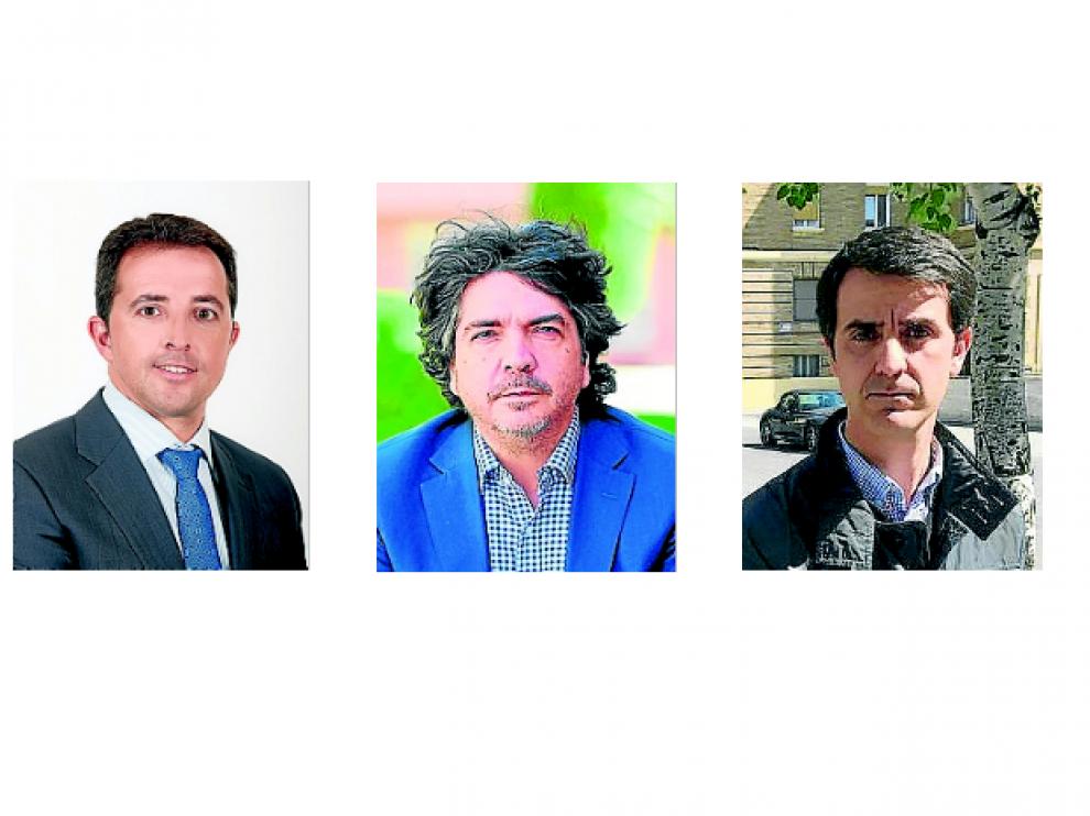 De izquierda a derecha, Alberto Herrero, Mario Garcés y Pedro Navarro.