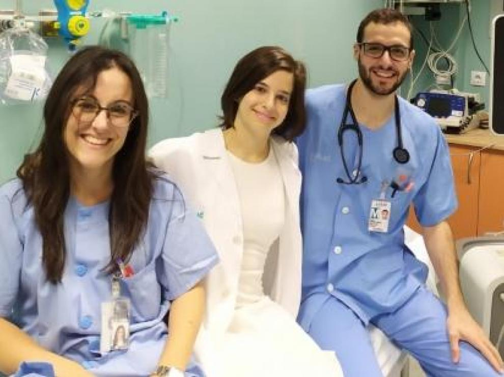Parte del equipo del Servet que ha obtenido el premio en Cardiología.