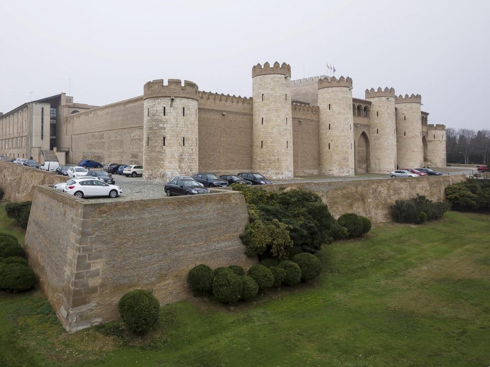 Palacio de la Aljafería, sede de las Cortes de Aragón.